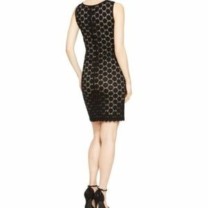 Women'sRonni Nicole Black Nude Dress Sz 6 Nylon S